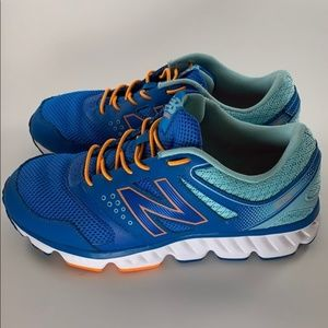 New Balance Athletic Shoes Blue Orange Size 9
